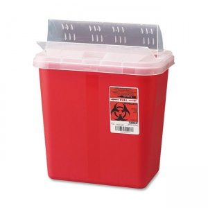Covidien S2GH100651 Sharp Container with Drop Lid CVDS2GH100651