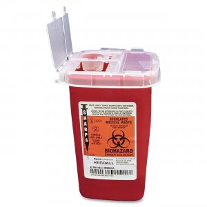 Covidien SR1Q100900 Sharps 1 Quart Phlebotomy Container With Lid CVDSR1Q100900
