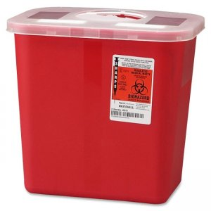 Covidien SRRO100970 Sharps 2 Gallon Container With Rotor Lid CVDSRRO100970