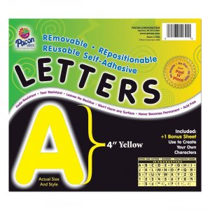 Pacon 51622 Self-Adhesive Removable Letters PAC51622