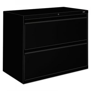 HON HON882LP 800 Series Two-Drawer Lateral File, 36w x 19-1/4d x 28-3/8h, Black