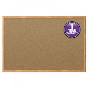 Mead MEA85366 Cork Bulletin Board, 36 x 24, Oak Frame