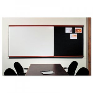 Quartet MB06P2 Connectables Modular Dry-Erase Board, Porcelain/Steel, 72 x 48, White, Mahogany QRTMB06P2
