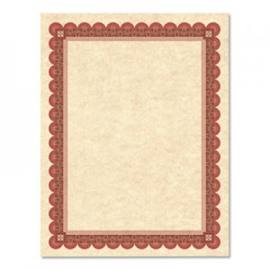Southworth SOUCT5R Parchment Certificates, Academic, Copper w/ Red & Brown Border, 8 1/2 x 11, 25/Pack
