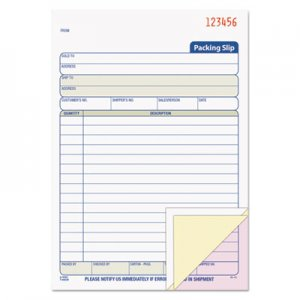 TOPS 46639 Packing Slip Book, 5 1/2 x 7 7/8, Three-Part Carbonless, 50 Sets/Book TOP46639
