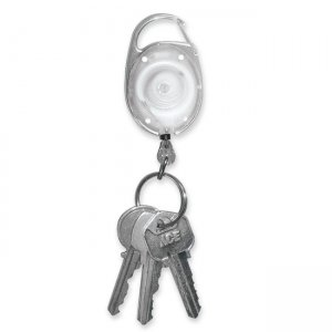 Tatco 58200 Reel Key Chain with Chrome Carabiner