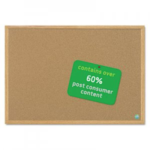 MasterVision SB0720001233 Earth Cork Board, 36 x 48, Wood Frame BVCSB0720001233