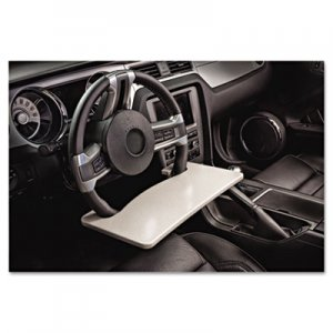 AutoExec AUE13000 Automobile Steering Wheel Attachable Work Surface, Gray