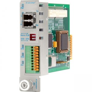 Omnitron Systems 8767-1 iConverter RS232 DB-9 LC Single-Mode 30km Plug-In Module 8767-1-x