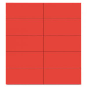 "MasterVision FM2404 Dry Erase Magnetic Tape Strips, Red, 2"" x 7/8"", 25/Pack BVCFM2404"