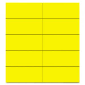 "MasterVision FM2403 Dry Erase Magnetic Tape Strips, Yellow, 2"" x 7/8"", 25/Pack BVCFM2403"