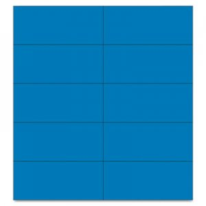 "MasterVision FM2401 Dry Erase Magnetic Tape Strips, Blue, 2"" x 7/8"", 25/Pack BVCFM2401"