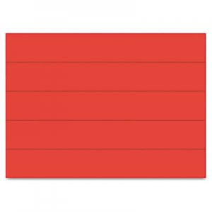 "MasterVision FM2504 Dry Erase Magnetic Tape Strips, Red, 6"" x 7/8"", 25/Pack BVCFM2504"