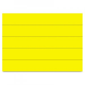 "MasterVision FM2503 Dry Erase Magnetic Tape Strips, Yellow, 6"" x 7/8"", 25/Pack BVCFM2503"