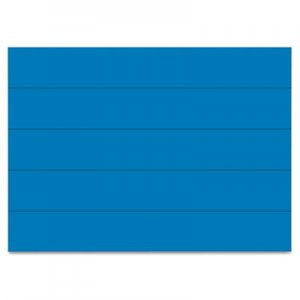 "MasterVision FM2501 Dry Erase Magnetic Tape Strips, Blue, 6"" x 7/8"", 25/Pack BVCFM2501"