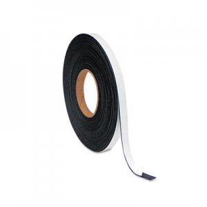 "MasterVision FM2321 Magnetic Adhesive Tape Roll, 1/2"" x 50 Ft., Black BVCFM2321"