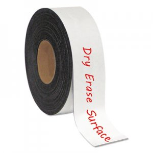 "MasterVision BVCFM2118 Dry Erase Magnetic Tape Roll, White, 2"" x 50 Ft"