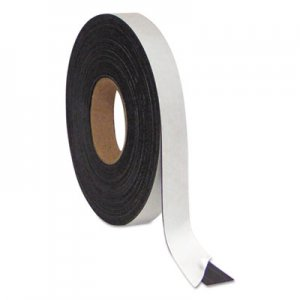 "MasterVision BVCFM2021 Magnetic Adhesive Tape Roll, Black, 1"" x 50 Ft"