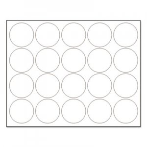 "MasterVision BVCFM1618 Interchangeable Magnetic Board Accessories, Circles, White, 3/4"", 20/Pack"