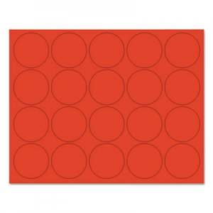 "MasterVision BVCFM1604 Interchangeable Magnetic Board Accessories, Circles, Red, 3/4"", 20/Pack"