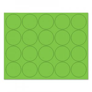 "MasterVision BVCFM1602 Interchangeable Magnetic Board Accessories, Circles, Green, 3/4"", 20/Pack"
