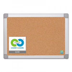 MasterVision BVCCA021790 Earth Cork Board, 18x24, Aluminum Frame