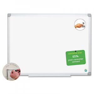 MasterVision BVCMA0200790 Earth Easy-Clean Dry Erase Board, White/Silver, 18x24
