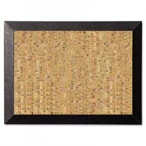 MasterVision SF0422581012 Natural Cork Bulletin Board, 24x18, Cork/Black BVCSF0422581012