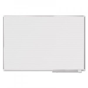 MasterVision BVCMA2794830 Ruled Planning Board, 72 x 48, White/Silver