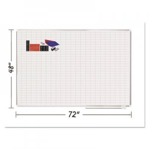 MasterVision BVCMA2792830A Grid Planning Board w/ Accessories, 1 x 2 Grid, 72 x 48, White/Silver