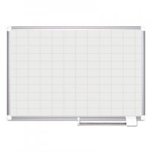 MasterVision BVCMA0593830 Grid Planning Board, 48 x 36, 2 x 3 Grid, White/Silver