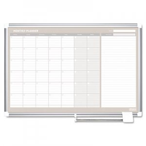 MasterVision GA0597830 Monthly Planner, 48x36, Silver Frame BVCGA0597830