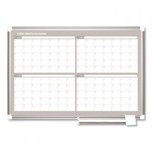 MasterVision BVCGA03105830 4 Month Planner, 36x24, Aluminum Frame