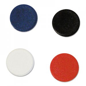 "MasterVision BVCIM140909 Interchangeable Magnetic Board Accessories, Circles, Assorted, 3/4"", 10/Pack"
