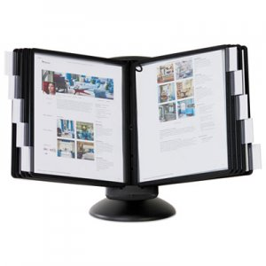 Durable DBL553901 SHERPA Motion Desk Reference System, 10 Panels, Black Borders