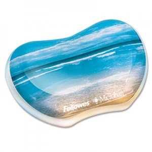 Fellowes 9179501 Gel Wrist Rest, Photo, 4 7/8 x 3 7/16, Sandy Beach FEL9179501
