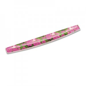 Fellowes 9179101 Gel Keyboard Wrist Rest w/Microban Protection, 18 9/16 x 2 5/16, Pink Flowers FEL9179101