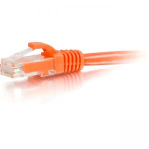 C2G 00441 2 ft Cat5e Snagless UTP Unshielded Network Patch Cable - Orange