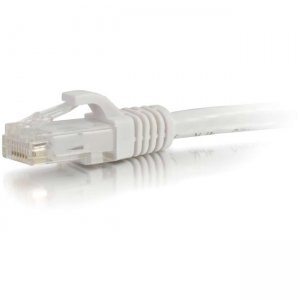 C2G 00484 6 ft Cat5e Snagless UTP Unshielded Network Patch Cable - White