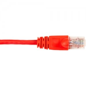 Black Box CAT6PC-007-RD CAT6 Value Line Patch Cable, Stranded, Red, 7-ft. (2.1-m)