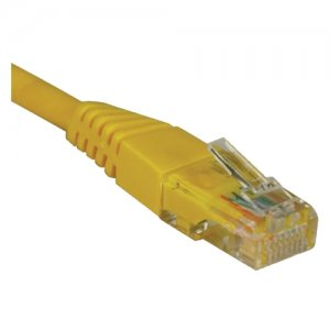 Tripp Lite N001-015-YW 15-ft. Cat5e 350MHz Snagless Molded Cable (RJ45 M/M) - Yellow
