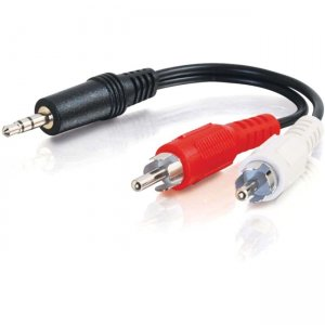 C2G 39943 12ft Value Series One 3.5mm Stereo Male To Two RCA Stereo Male Y-Cable