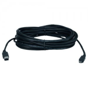 QVS CC1394B-25 25ft IEEE1394 FireWire/i.Link 6Pin to 4Pin A/V Black Cable