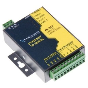 Brainboxes ES-357 1 Port RS232 and 1 Port RS422/485 Ethernet to Serial Adapter