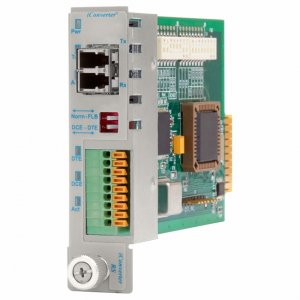 Omnitron Systems 8767-1-W iConverter RS232 DB-9 LC Single-Mode 30km Plug-In Module Wide Temp 8767-1