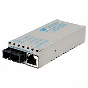 Omnitron Systems 1103-1-0W miConverter 10/100 SC Single-Mode 30km No Power Adapter Wide Temp 1103-1-x
