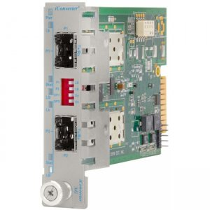 Omnitron Systems 8599-00-W iConverter XG SFP+ to SFP+ Plug-In Module Wide Temp 8599-00-x