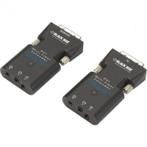Black Box AVX-DVI-FO-MINI Mini Extender Kit for DVI-D and Stereo Audio over Fiber