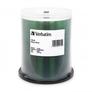 Verbatim 94970 CD-R 80MIN 700MB 52x Shiny Silver 100pk Spindle VER94970