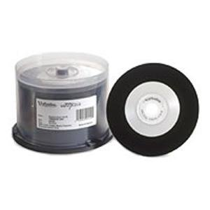 Verbatim 94550 Digital Vinyl CD-R 80MIN 700MB White Inkjet Printable, Hub Printable 50pk Spindle VER94550